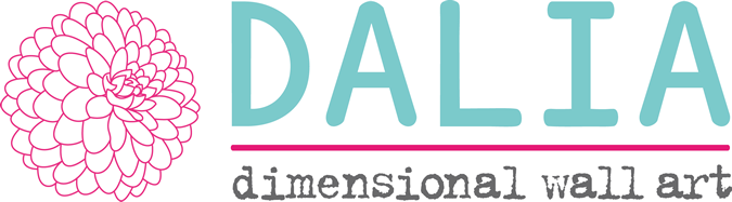 DALIA - dimensional wall art